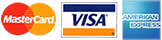 We accept all major credit cards: MasterCard, Visa, American Express